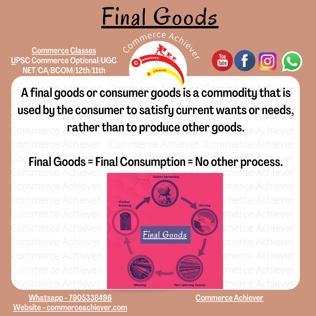 Final Goods – Meaning, Example and more [Economics Term] [Commerce Achiever]