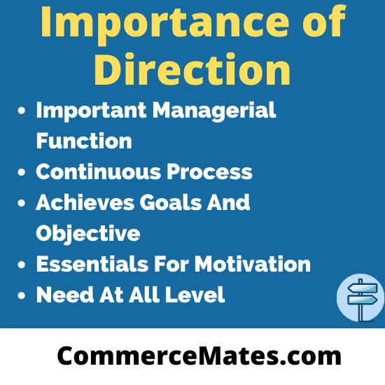 Importance of Direction