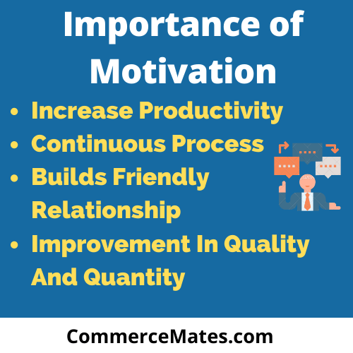 Importance of Motivation