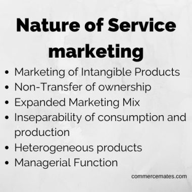 Nature of Service marketing