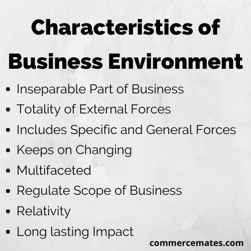 Characteristics of Business Environment