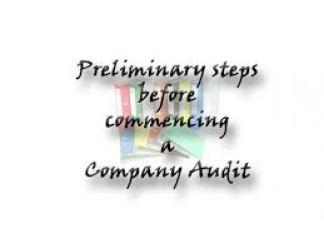 Commencement of Audit