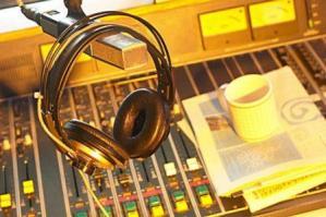 headset in recording studio