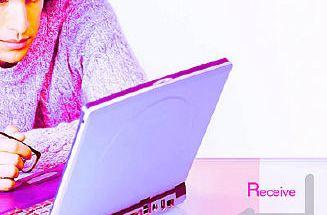 man looking at laptop screen