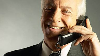 business man on telephone