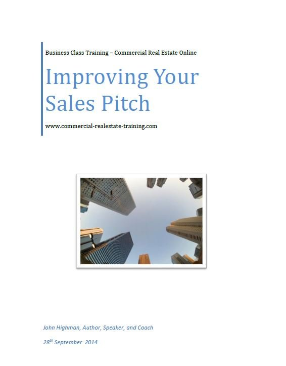 special report about sales pitch in commercial property