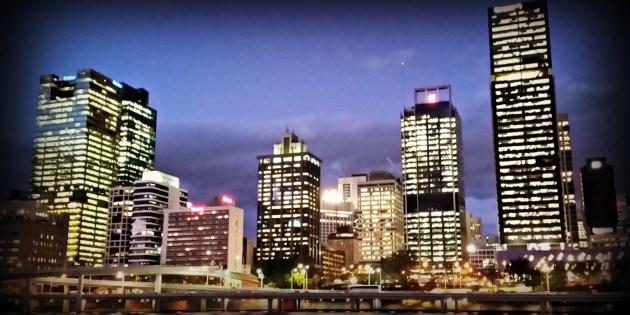 city scene of buildings