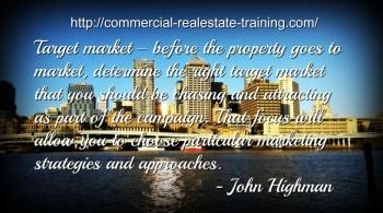 marketing quote on city scene
