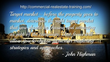 marketing quote on city scene