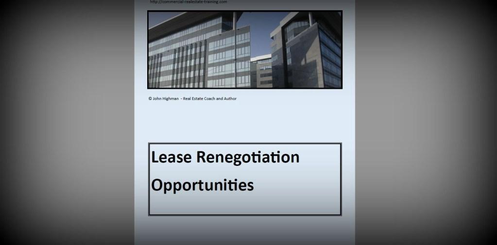 lease renegotiation report