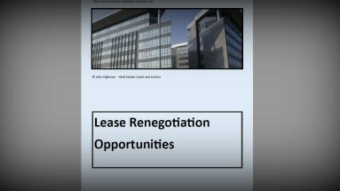 lease renegotiation report