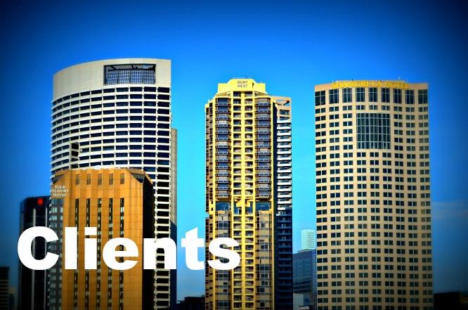 Hi-rise city buildings on skyline