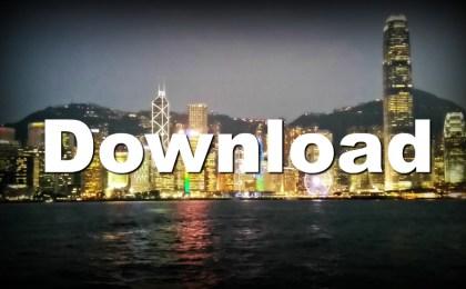 Hong Kong harbour at night