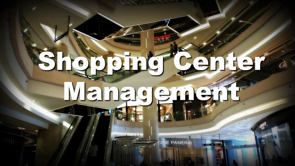 Retail shopping mall and escalators