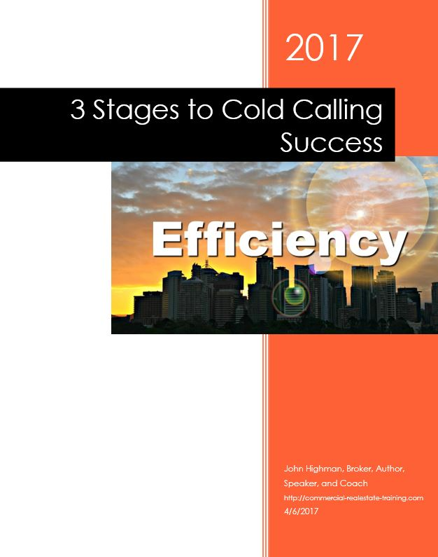 book cover city at sunset - efficiency in real estate cold calling