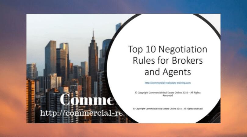 negotiation slides in commercial real estate