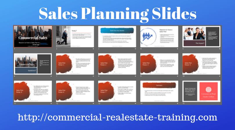 sales plan slides for commercial real estate