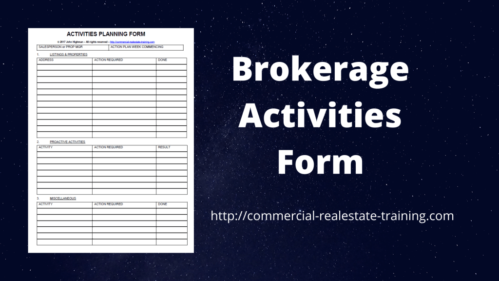 brokerage activities for real estate agents