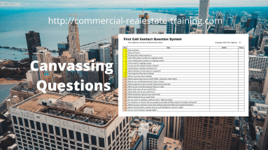 canvassing questions in commercial real estate