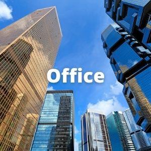 office buildings in city