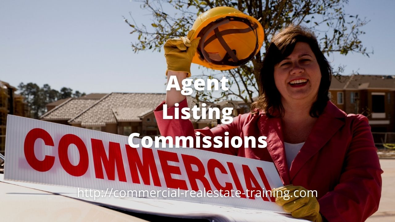 real estate agent with signboard