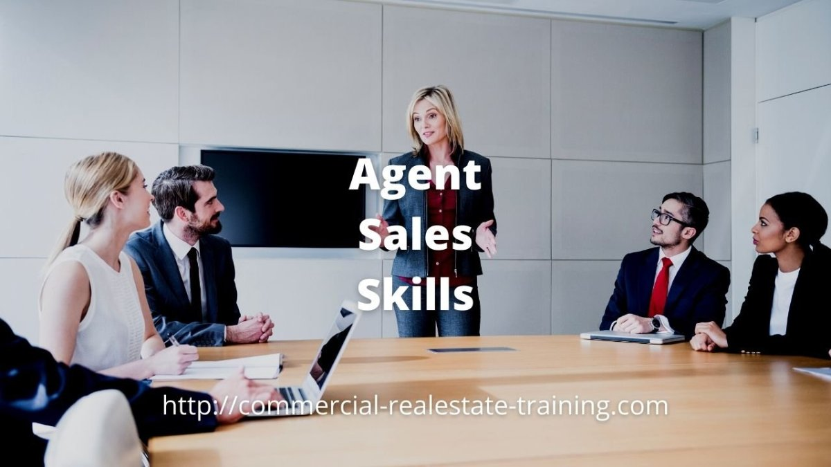 real estate agent team meeting