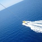 Parasailing winch system in use