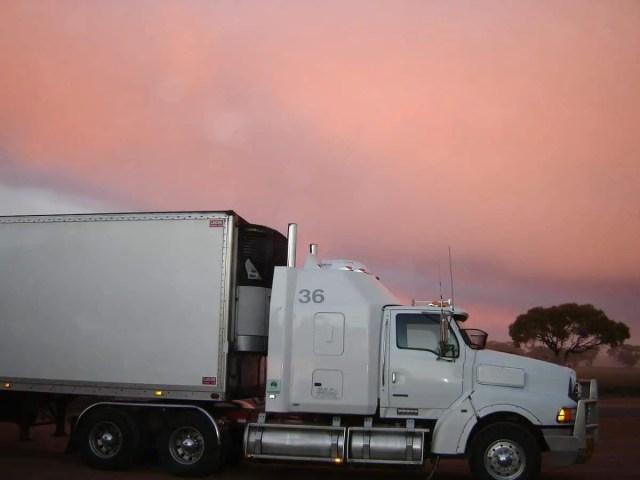 manitoba class 1 license driver in a truck