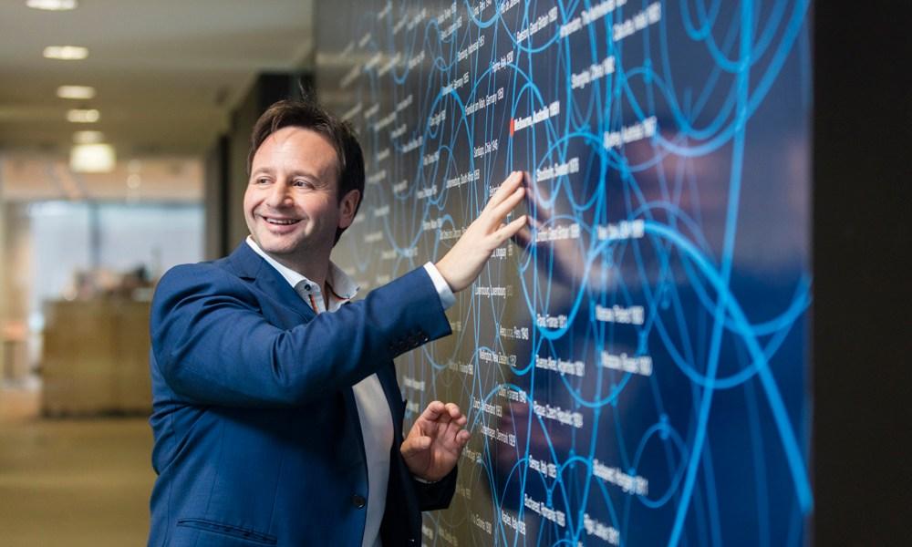 CEO portrait in Office Ericsson Melbourne