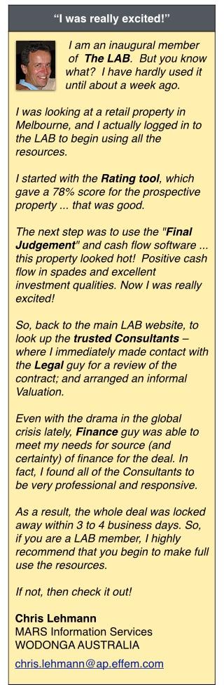 Lehmann-Testimonial