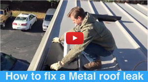 How to repair roof leaks on a metal roof permanently