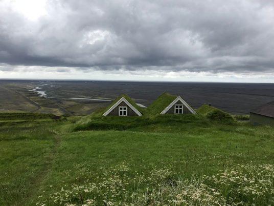 Vue des maisons du Parc national de Skaftafell