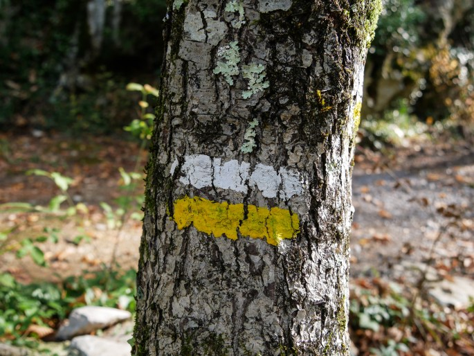 Marque d'un sentier de randonnée
