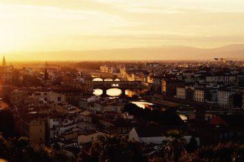 Coucher de soleil sur Florence