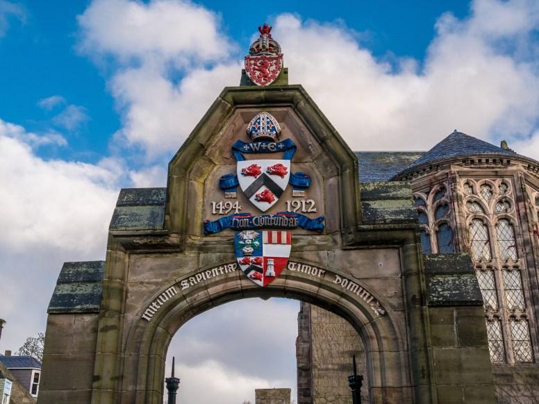 Entrée de la fac d'Aberdeen
