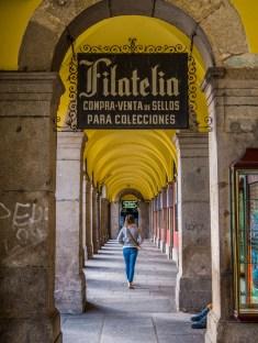Les arches de la plaza Mayor
