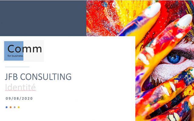 Réalisation de la charte graphique du cabinet de conseil JFB Consulting