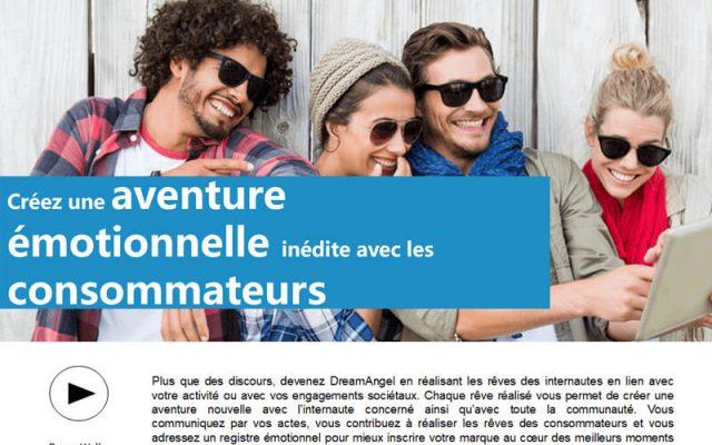 Réalisation d'un document de présentation pour la startup Mydream Smile the world