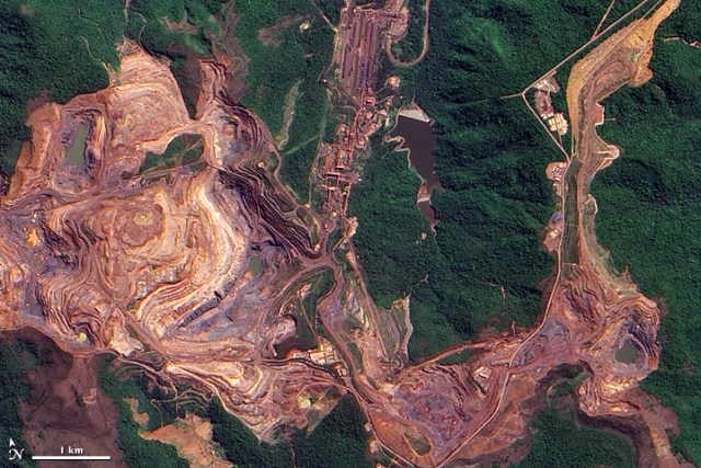 Brazil's top commodities: The world's largest iron ore mine.