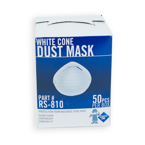 WHITE CONE DUST MASK