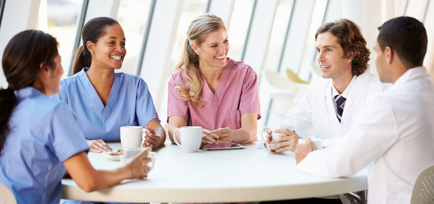 Image result for doctors at a coffee break