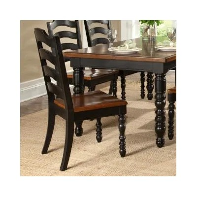 legacy classic furniture concord ladder back side chair in distressed burnished black and cherry. Black Bedroom Furniture Sets. Home Design Ideas