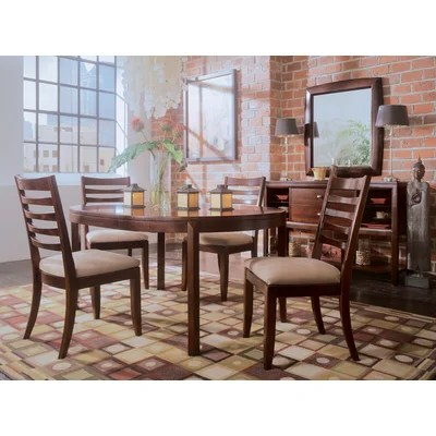 American Drew Tribecca 5 Piece Round Leg Casual Dining Table Set WW1736 D