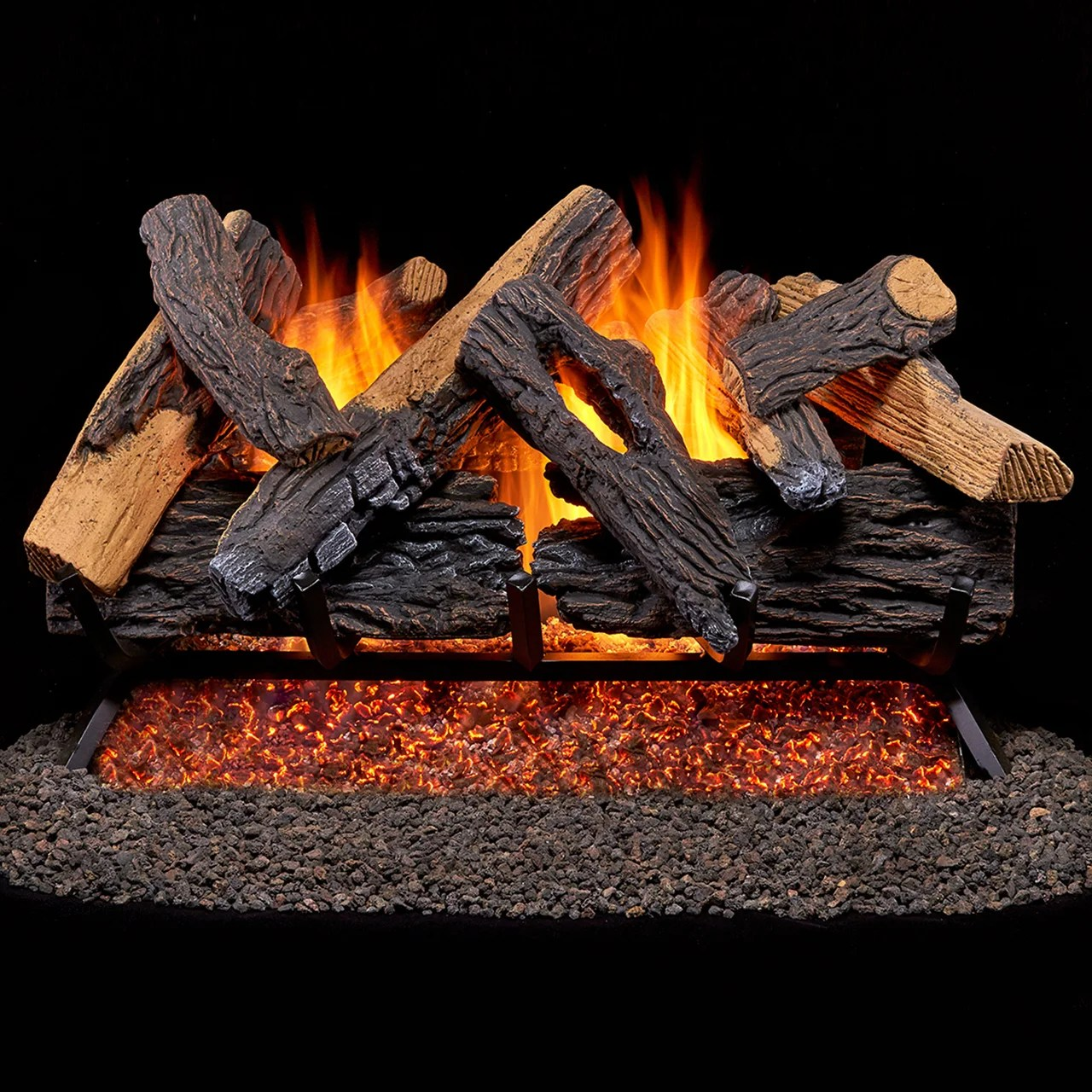 Duluth Forge Vented Natural Gas Fireplace Log Set Dfge
