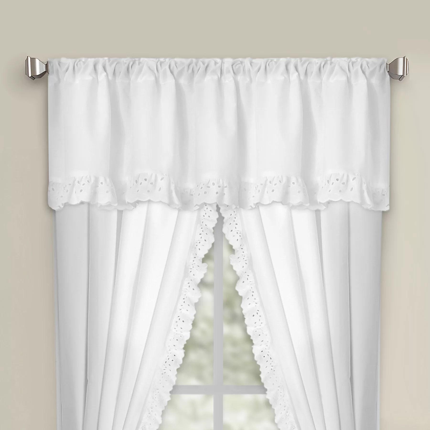 Fresh Ideas Eyelet Rod Pocket Curtain Valance EBay