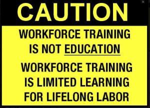 The goal of aligned careeers?? 'Workforce' workers.