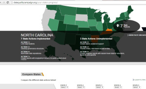 Find out where your state is, as far as data collection efforts. Compare states, too.