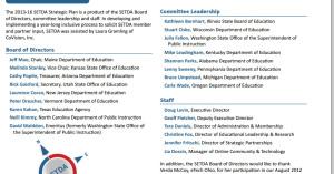 States in leadership: ME, KS, VT, UT, NC, OH, AZ, NJ, TX, WA, IL, WI, KY, AL, MI, PA, and OR