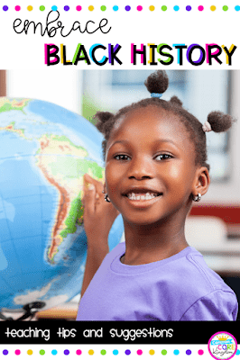 Black History Month Pin cover showing female black student in classroom.
