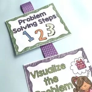 Problem solving steps anchor chart for 2nd grade word problems